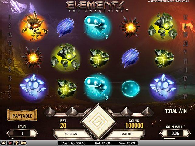 elements gokkast