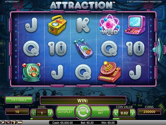 attraction speelautomaat