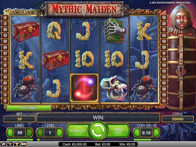 mythic maiden speelautomaat