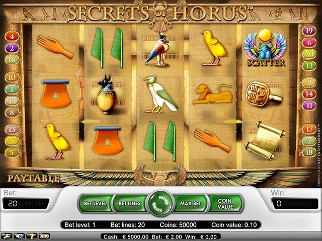 secret of horus symbolen