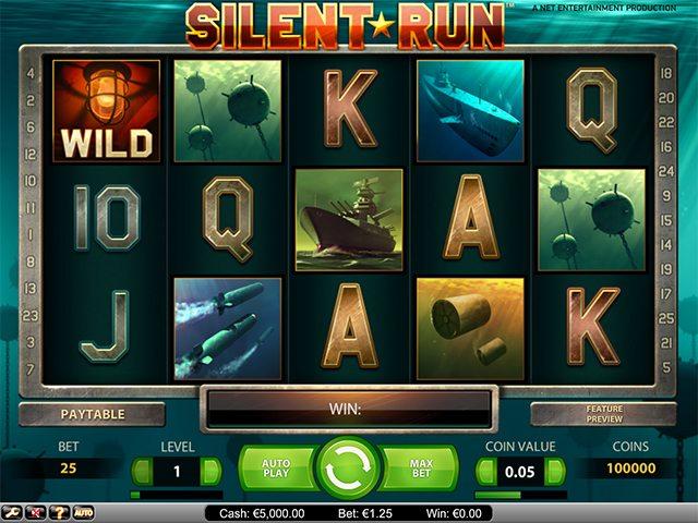 silent run gokkast