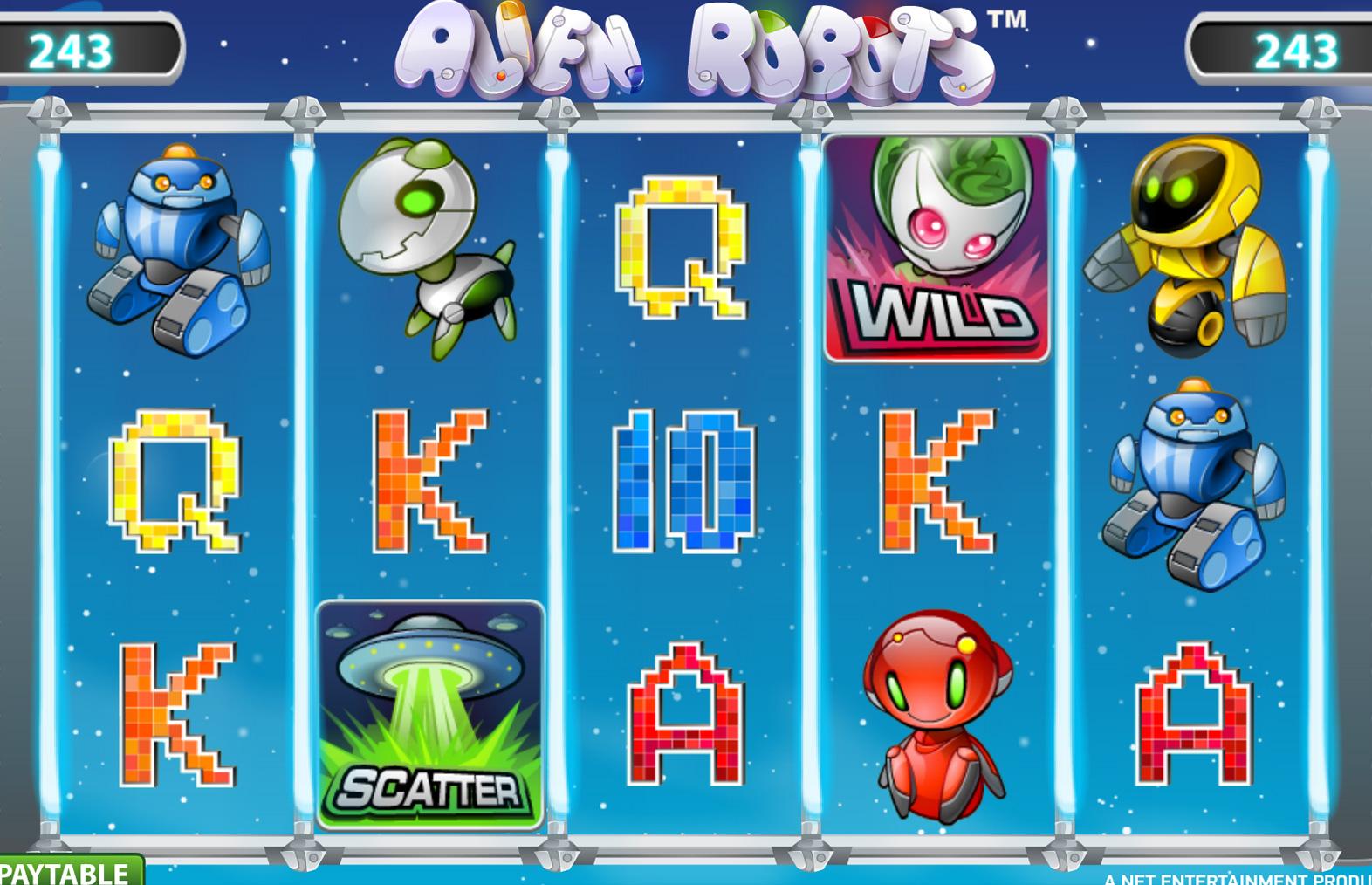 alien robots gokkast