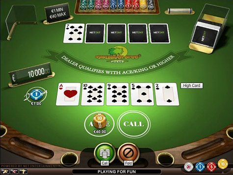 online casino free spins caribbean stud