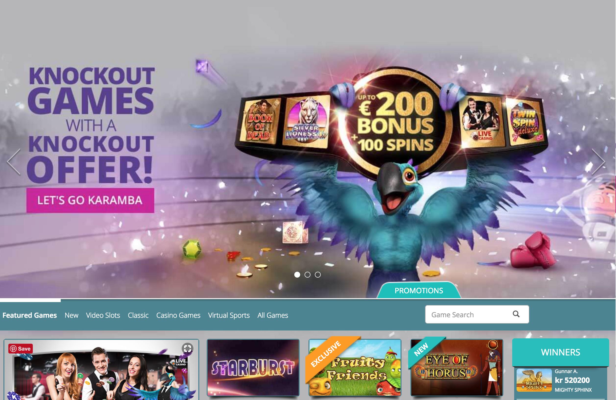 karamba casino startpagina welkomstbonus