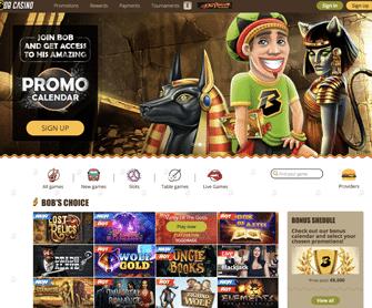 bob casino startpagina met welkomstbonus