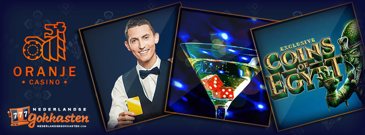 oranje casino promotie op coins of egypt