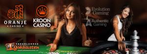 het live casino van oranje casino en kroon casino
