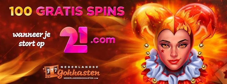 21 casino tijdelijke actie