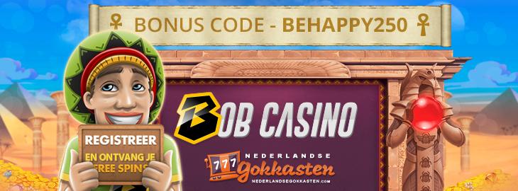 bob casino banner exclusive bonus