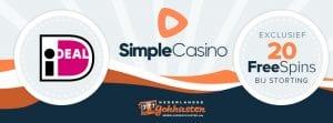 exclusieve bonus bij simple casino